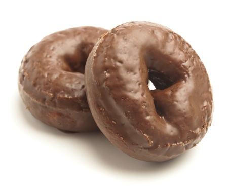 chocolate donut isolated on a white background photo
