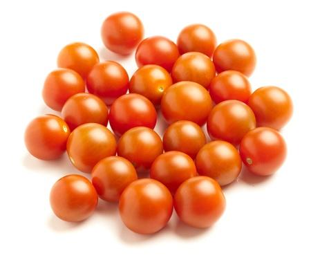 cherry tomatoes isolated on white background photo
