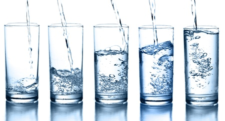 mineral water: water glass