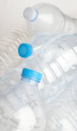 water plastic bottle stack to recycle extreme closeup Stock Photo - 8452386