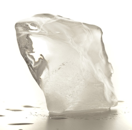 ice cube isolated on a white background Stock Photo - 8452364