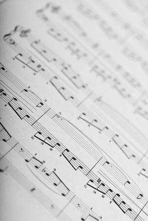 extreme closeup of a music sheet texture photo