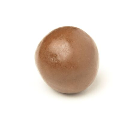 chocolate ball isolated on a white background photo