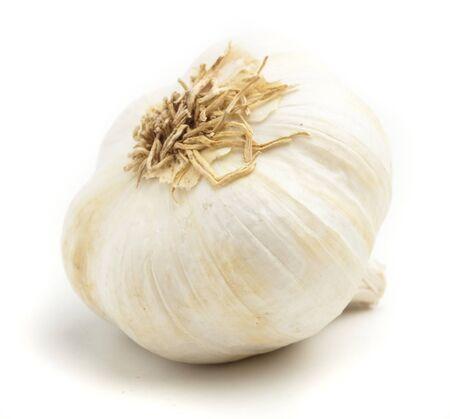 garlic bulb isolated on a white background photo
