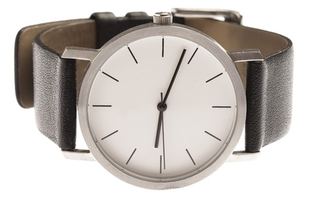 human wrist: wrist watch isolated on a white background Stock Photo