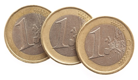 euro coins isolated on a white background Stock Photo - 8575938