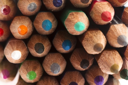 colorful crayon stack texture, extreme closeup photo photo
