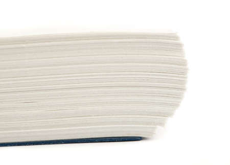 book pages closeup on a white background Stock Photo - 8574740