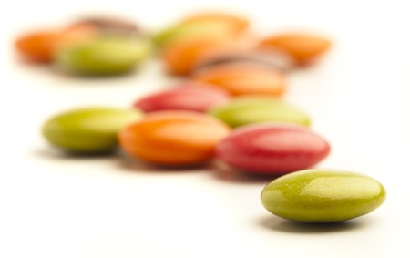 colorful chocolate candy isolated on a white background photo