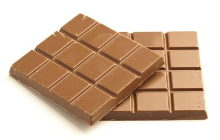 chocolate bar isolated on a white background photo