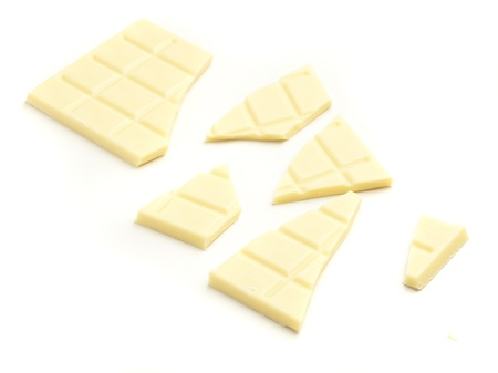 white chocolate bar isolated on white background photo