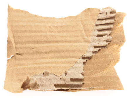 cardboard piece isolated on a white background photo