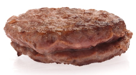delicious burger isolated on a white background photo