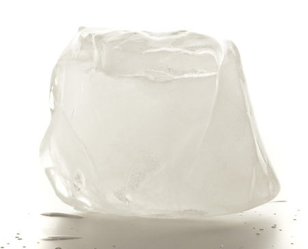 ice cube isolated on a white background Stock Photo - 8771667