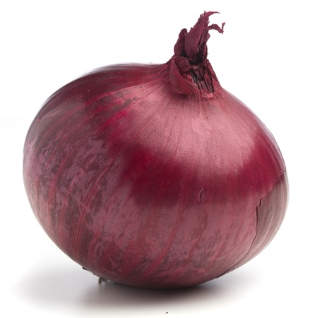 purple onion isolated on a white background Stock Photo