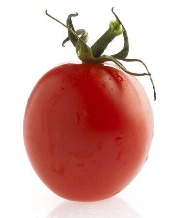 cherry tomato isolated on a white background photo
