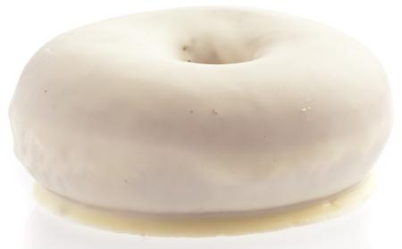 single white donut isolated on white background Stock Photo - 8771605