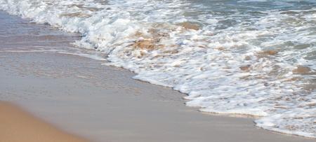 coastline of the beach, extreme closeup photo photo