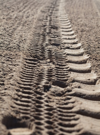 mark of truck on the sand closeup Stock Photo - 8769927