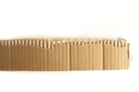 extreme closeup of carboard texture on white background photo