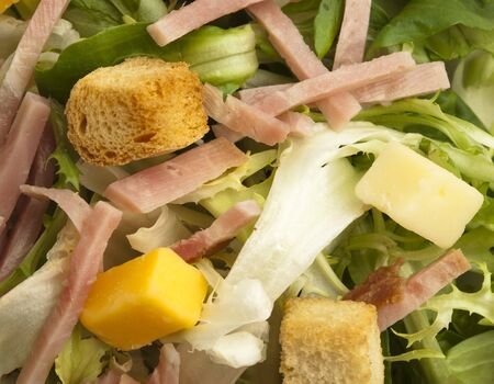 extreme closeup of a delicious salad texture Stock Photo - 8770056
