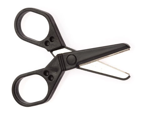 office scissors isolated on a white background photo