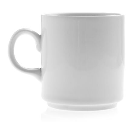 breakfast mug isolated on a white background Stock Photo