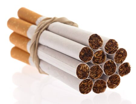 cigarettes pack isolated on a white background photo