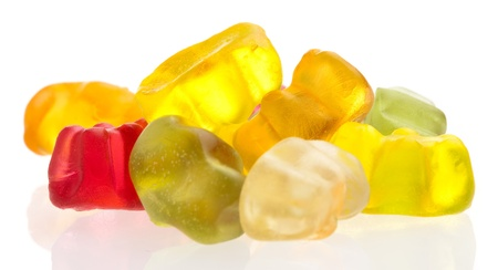 jelly bears isolated on a white background photo