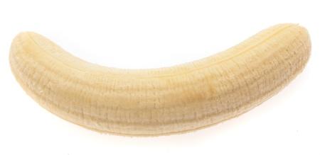one banana isolated on a white background photo