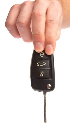 man holding a electronic key of car Stock Photo - 8849828