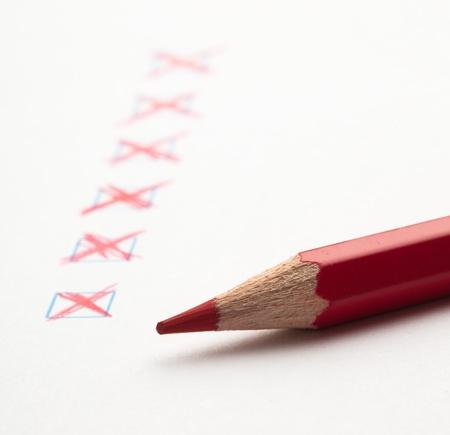 mark on check box of test closeup Stock Photo - 8849754