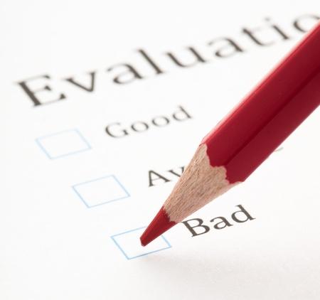 evaluation test check boxes, extreme closeup photo Stock Photo - 8849776