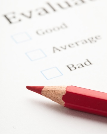 evaluation test check boxes, extreme closeup photo Stock Photo - 8849817
