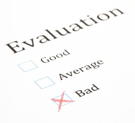 evaluation test check box, extreme closeup photo Stock Photo - 8849726