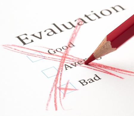 evaluation test cross and pencil, closeup photo Stock Photo - 8849799