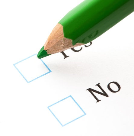 questionnaire yes or not, extreme closeup photo Stock Photo - 8849731