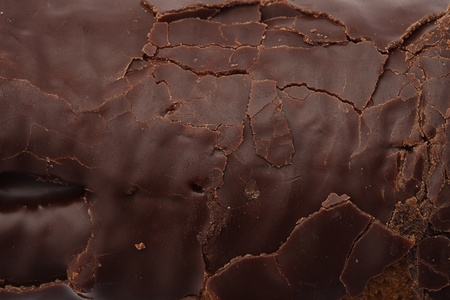 chocolate mousse: rough chocolate surface texture