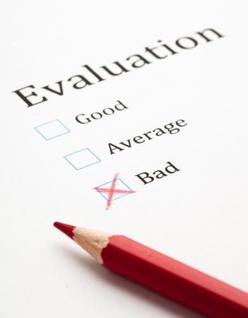 evaluation test check box, extreme closeup photo Stock Photo - 9874316