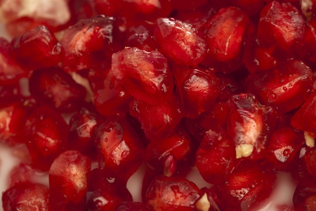 extreme closeup of a pomegranate fruit texture photo