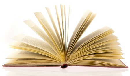 open book on a white background Stock Photo - 10048965