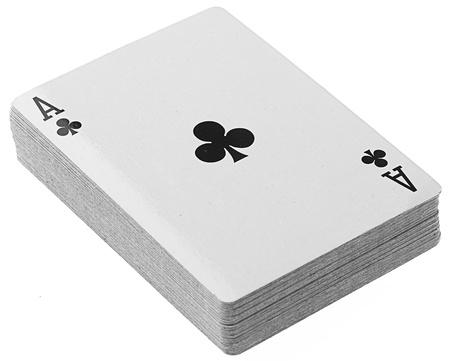cartas de póquer en un fondo blanco