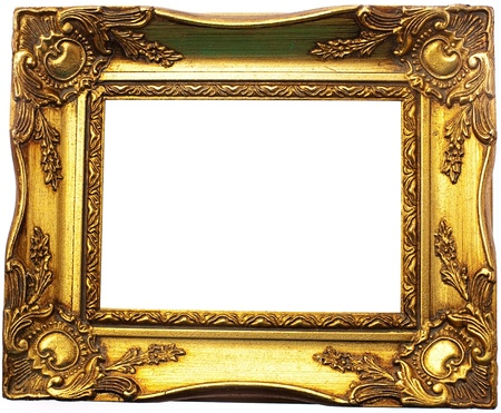 old frame isolated on white Stock Photo - 10049056