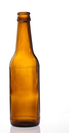 beer bottle isolated on white background photo