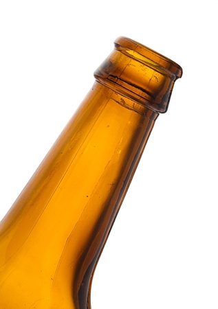 beer bottle isolated on white background photo