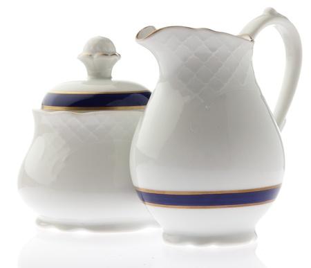 ceramic tea pot on white background photo