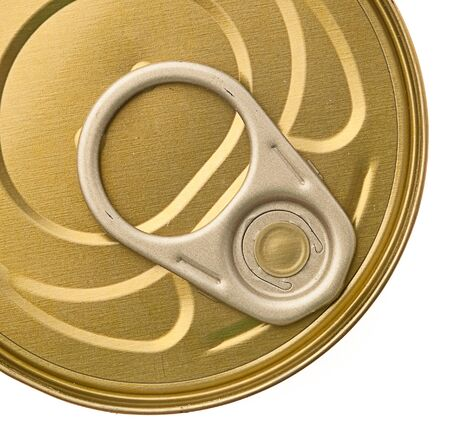 canned goods: tuna isolated on a white background