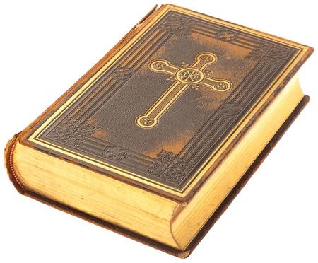 holy  symbol: libro de la Biblia sobre un fondo blanco