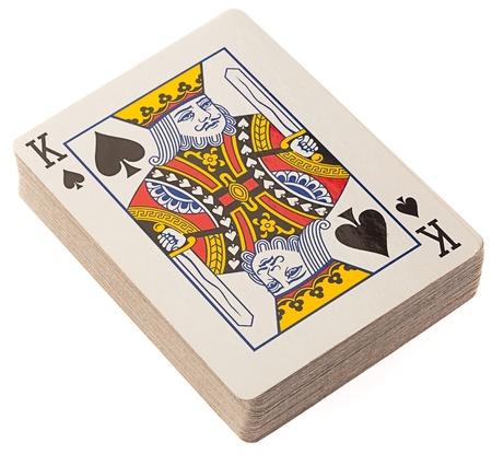 baraja de Poker sobre un fondo blanco