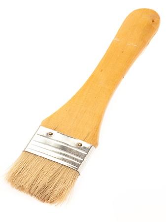 paintbrush isolated on a white background photo